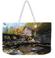Weekender Tote Bag featuring the photograph Glade Creek Grist Mill by Steve Stuller