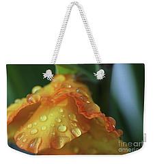 Gladiola Dew Drops Weekender Tote Bag