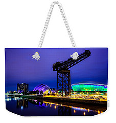 Glasgow At Night Weekender Tote Bag by Ian Good