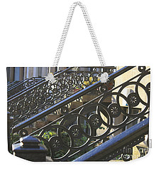 Weekender Tote Bag featuring the photograph Glasgow Railings by Mary-Lee Sanders