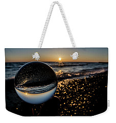 Glass Ball On The Beach At Sunrise Weekender Tote Bag