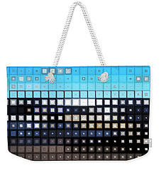 Weekender Tote Bag featuring the digital art Glass Block Shore by Shawna Rowe
