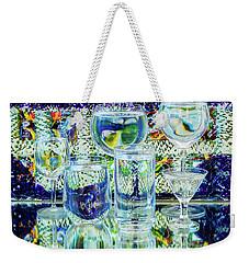 Glass Blues Weekender Tote Bag