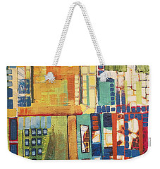 Weekender Tote Bag featuring the painting Glass Bottom Boeing by Donna Howard