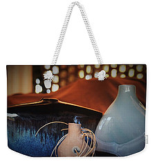Glass Clay And Wood Combination Of Weekender Tote Bag by John Glass