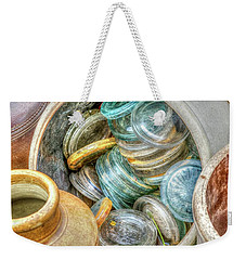 Glass Lids Weekender Tote Bag