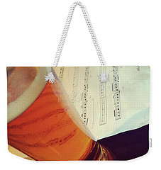 Glass Of Beer And Music Notes Weekender Tote Bag