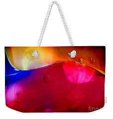 Glass Paint Abstract Dark Weekender Tote Bag