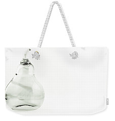 Glass Pear In Black And White Weekender Tote Bag