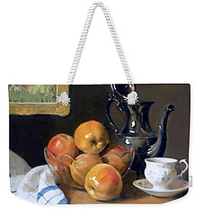 Glass, Silver And Apples Weekender Tote Bag