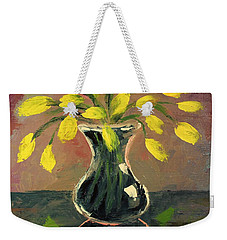 Glass Vase And Yellow Flowers Weekender Tote Bag
