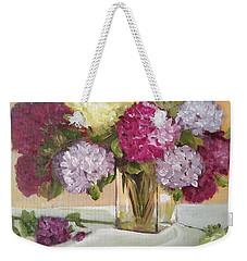Glass Vase Weekender Tote Bag by Sharon Schultz