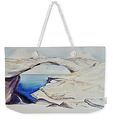 Weekender Tote Bag featuring the painting Glass Window by Patricia Piffath