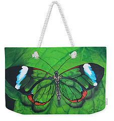 Glass Wing Butterfly Weekender Tote Bag