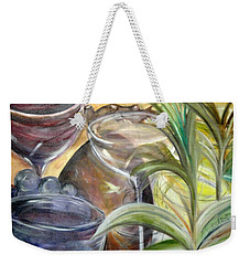 Glasses Grapes And Plants Weekender Tote Bag