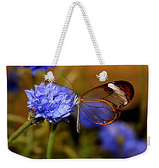 Glasswing Butterfly Weekender Tote Bag by Living Color Photography Lorraine Lynch