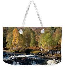 Weekender Tote Bag featuring the photograph Glen Affric In Autumn by Karen Van Der Zijden