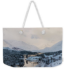 Glen Affric In The Snow Weekender Tote Bag