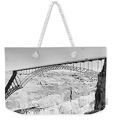 Glen Canyon Bridge Bw Weekender Tote Bag