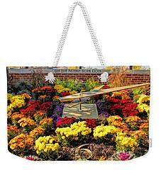 Weekender Tote Bag featuring the painting Glen Ellyn Millennium Flower Clock by Christopher Arndt