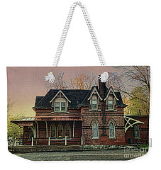 Glen Mill Train Station Weekender Tote Bag by Judy Wolinsky