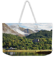 Weekender Tote Bag featuring the photograph Glencoe House Landscape by Grant Glendinning