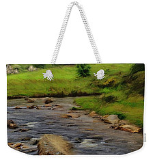 Weekender Tote Bag featuring the painting Glendalough In The Distance by Jeff Kolker