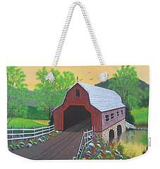 Glenda's Covered Bridge Weekender Tote Bag