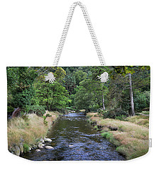 Weekender Tote Bag featuring the photograph Glendasan River. by Terence Davis