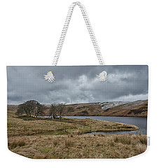 Weekender Tote Bag featuring the photograph Glendevon Reservoir In Scotland by Jeremy Lavender Photography