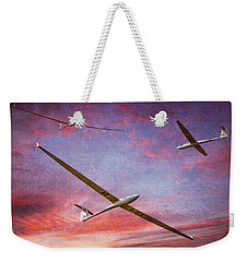 Gliders Over The Devil's Dyke At Sunset Weekender Tote Bag