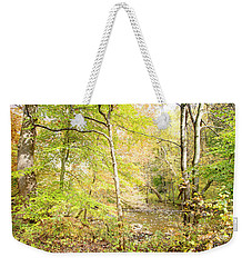 Glimpse Of A Stream In Autumn Weekender Tote Bag by A Gurmankin