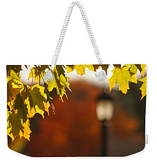 Weekender Tote Bag featuring the photograph Glimpse Of Autumn by Aimelle