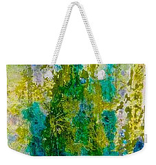 Weekender Tote Bag featuring the painting Glimpse Of Spring by Carolyn Rosenberger