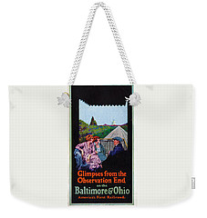 Glimpses From The Observation End Weekender Tote Bag