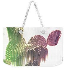 Glitch Cactus Weekender Tote Bag