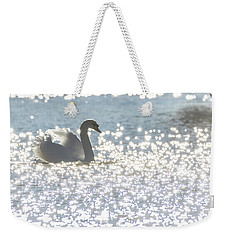 Glitz And Glamory Swan Weekender Tote Bag