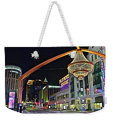 Weekender Tote Bag featuring the photograph Glitz And Glamour In Cleveland Ohio by Frozen in Time Fine Art Photography