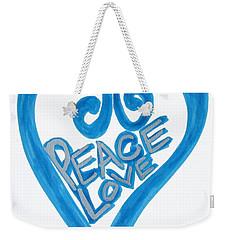 Global Peace And Love Heart Weekender Tote Bag