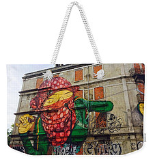 Weekender Tote Bag featuring the painting Globe Building Art Painting by Sheila Mcdonald