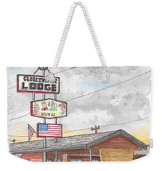Globetrotter Lodge In Route 66, Holbrook, Arizona Weekender Tote Bag