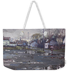 Gloomy And Rainy Day By Hyde Park Weekender Tote Bag by Ylli Haruni