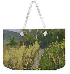 Weekender Tote Bag featuring the painting Gloomy Day Hike by David King