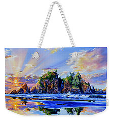 Weekender Tote Bag featuring the painting Glorious Point Of The Arches by Hanne Lore Koehler
