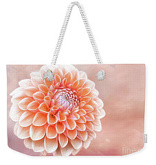 Glorious Salmon Dahlia Weekender Tote Bag