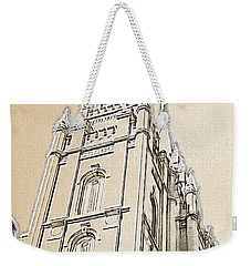 Weekender Tote Bag featuring the drawing Glory And Majesty by Greg Collins
