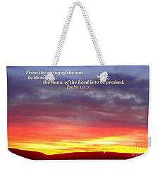 Glory And Praise  Weekender Tote Bag
