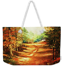 Glory Road In Autumn Weekender Tote Bag