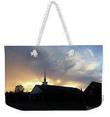Glory To God Sunset Weekender Tote Bag