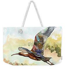 Glossy Ibis Weekender Tote Bag
